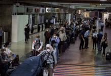 Protesta en aeropuerto de Maiquetía