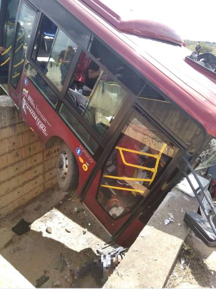 accidente de autobús dejó 35 heridos y cuatro fallecidos anzoátegui Carretera Nacional El Tigre-Cantaura