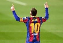 Doblete de Lionel Messi barcelona
