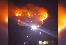 Incendio en el Cerro El Café
