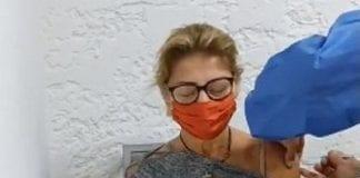 Marisabel Rodríguez vacunó contra covid-19 - Marisabel Rodríguez vacunó contra covid-19