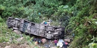 Accidente de autobús en Bolivia