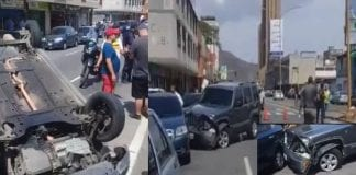 Accidente de tránsito en la Avenida Cedeño