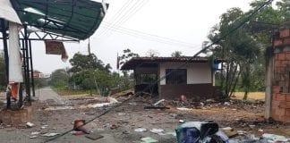 FARC atacó con explosivos sede del Seniat - FARC atacó con explosivos sede del Seniat