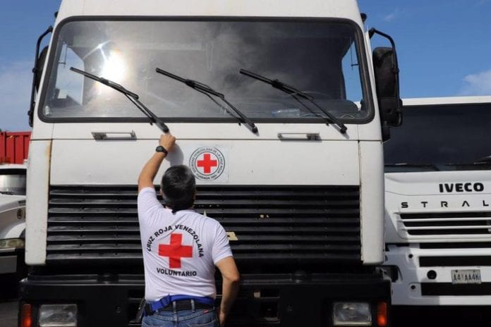 Cruz Roja Venezolana recibe un nuevo cargamento