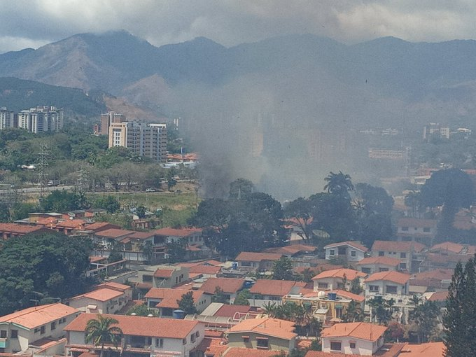 incendio cerca de la subestación Guaparo