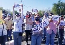 Habitantes de San Diego protestan por agua - Habitantes de San Diego protestan por agua