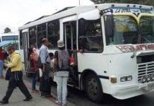 Paralizado en 50% del transporte público gasoil