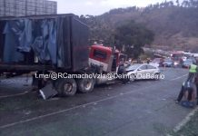 Accidente de tránsito en Tazón