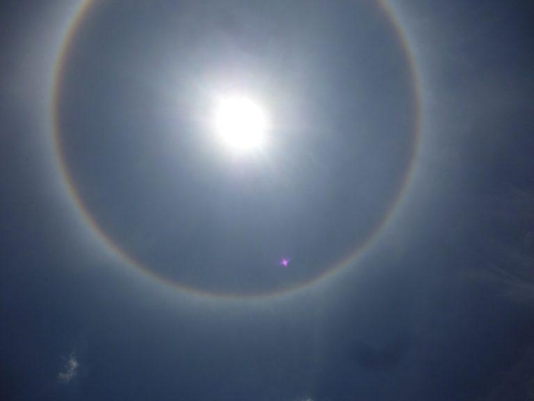 Halo solar ya se notó en toda Venezuela hoy jueves
