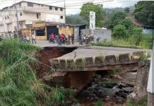 colapso del puente La Chivata en Táriba