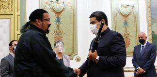 Steven Seagal se reunió con Nicolás Maduro