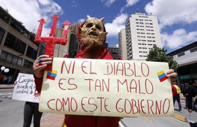 Nuevas protestas contra Gobierno colombiano