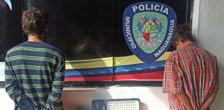 Dos hombres intentaban hurtar lámparas en Mañongo