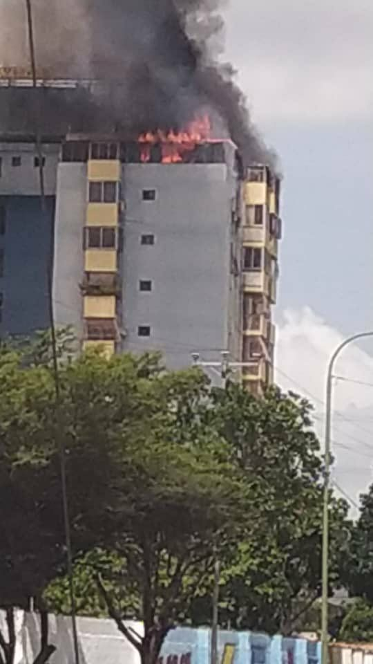 incendio en penthouse