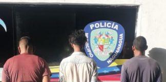Detenidos tres hombres en Guayabal