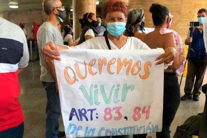 Pacientes oncológicos protestaron - Pacientes oncológicos protestaron