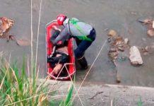 Fallece hombre al caer al río Guaire . Fallece hombre al caer al río Guaire