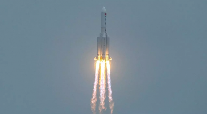 restos del cohete chino