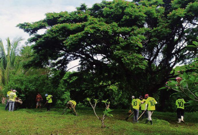 limpieza en Jardín Botánico de Naguanagua