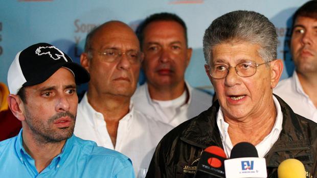 Ramos Allup y Capriles - Ramos Allup y Capriles