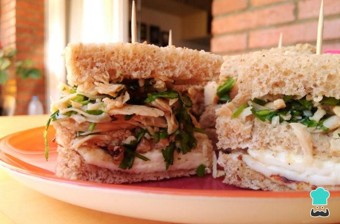 sándwich de pollo al limón light - sándwich de pollo al limón light