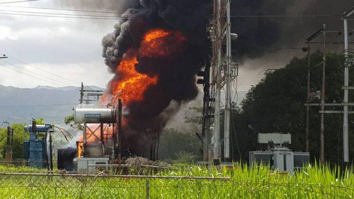 incendio en sub-estación Alejo Zuloaga - incendio en sub-estación Alejo Zuloaga
