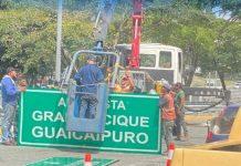 letrero de Francisco Fajardo por Gran Cacique Guaicaipuro - letrero de Francisco Fajardo por Gran Cacique Guaicaipuro