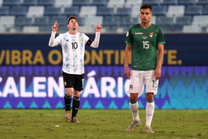 copa américa Argentina aseguró el primer lugar del Grupo A con doblete de Messi