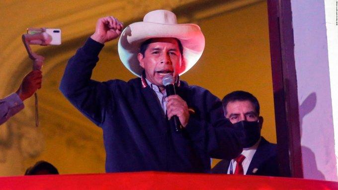 Pedro Castillo nuevo presidente de Perú - Pedro Castillo nuevo presidente de Perú