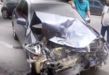 accidente en la vía principal de Vigirima