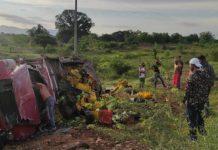 Accidente en la carretera San Pedro Lagunillas