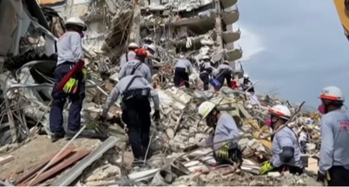 Rescate en edificio de Miami - Rescate en edificio de Miami
