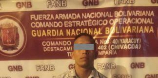 Capturado sargento de la GNB - Capturado sargento de la GNB