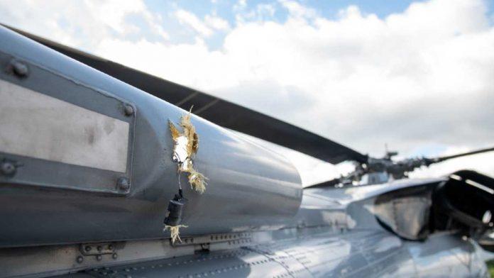Helicóptero donde viajaba Iván Duque baleado al aterrizar en Cúcuta