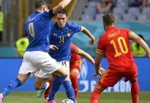 Italia avanzó como líder del Grupo A tras derrotar a Gales eurocopa