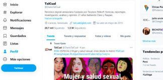 Twitter suspendió la cuenta del diario Talcual - Twitter suspendió la cuenta del diario Talcual