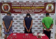 Detenidos tres jóvenes por portar marihuana en el estado Bolívar