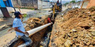 sustitución de tuberías de aguas servidas en Capremco