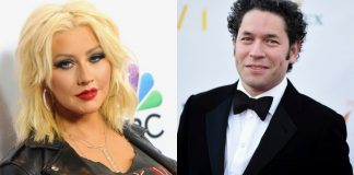 Christina Aguilera y Gustavo Dudamel