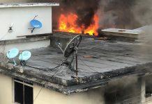 Incendio en apartamento de Los Palos Grandes