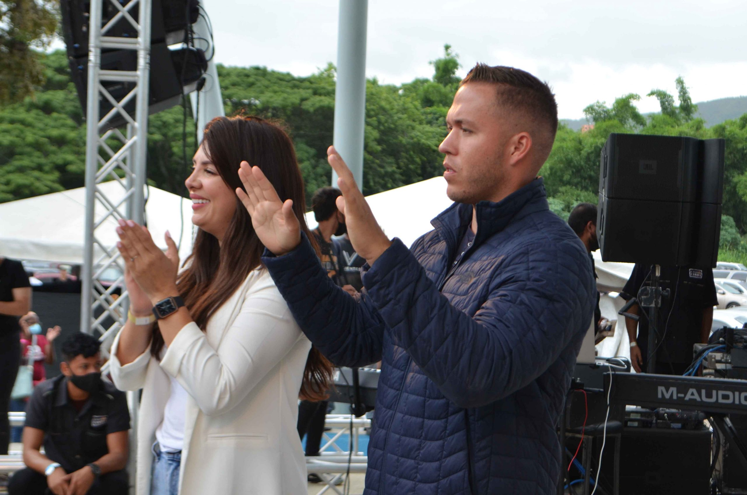 Gustavo y su esposa