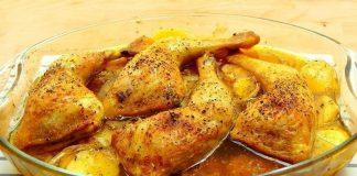 Muslos de pollo al horno con papa - Muslos de pollo al horno con papa