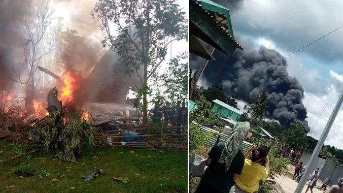 Se estrelló un avión militar filipino