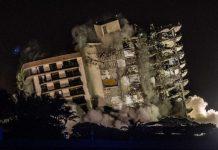 restos del edificio que colapsó en Miami - restos del edificio que colapsó en Miami