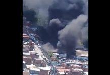 incendio en zona industrial de San Isidro - incendio en zona industrial de San Isidro