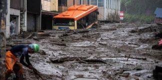 Deslizamiento de tierra en Japón