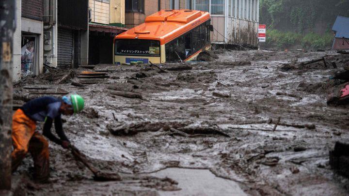 Deslizamiento de tierra en una ciudad de Japón deja más de 20 desaparecidos