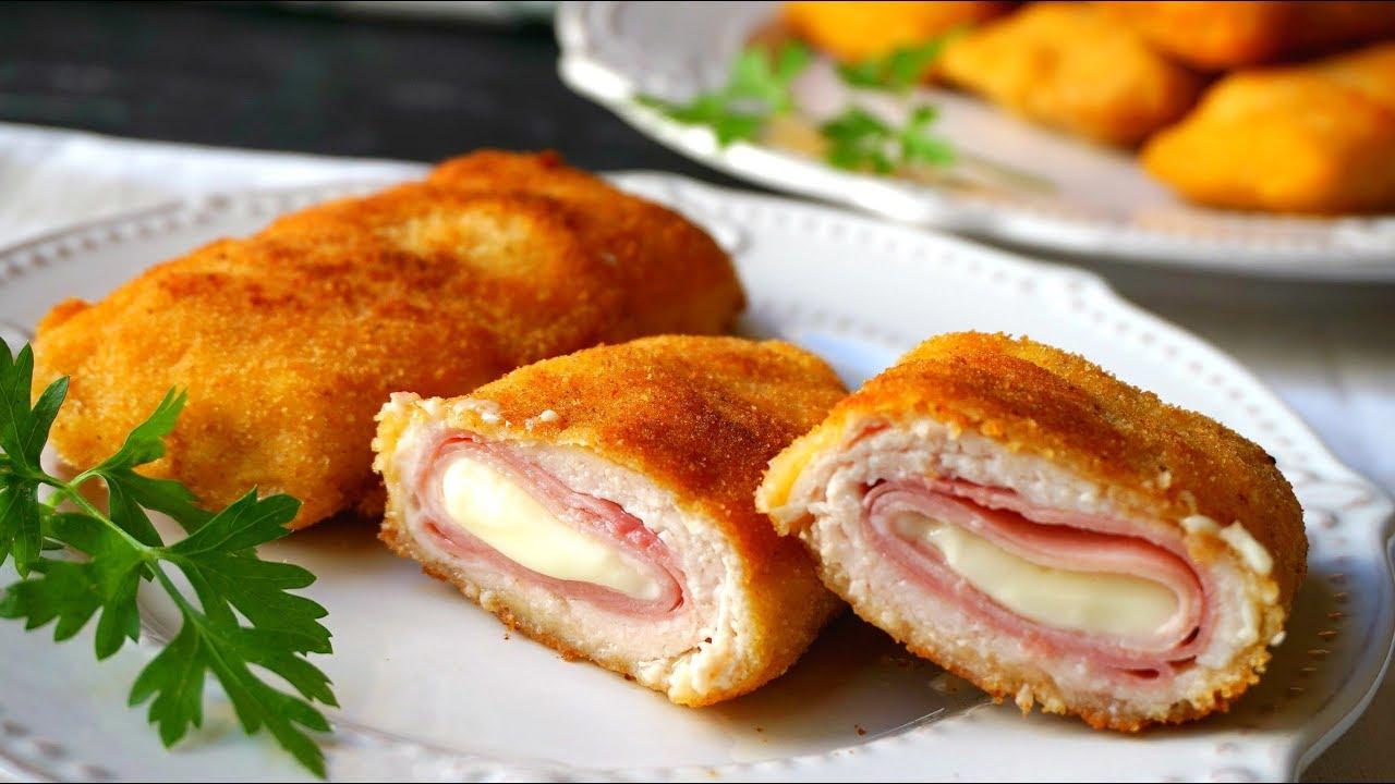 pechugas de pollo rellenas de jamón y queso - pechugas de pollo rellenas de jamón y queso
