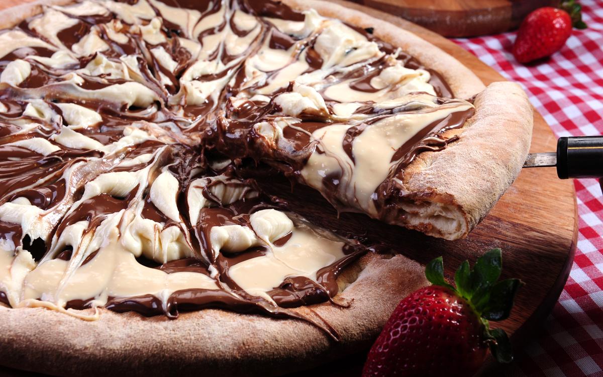 pizza de chocolate - pizza de chocolate